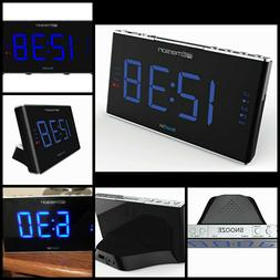 "1.8"" LED Display Sound Therapy Alarm Clock Radio With White"
