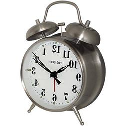 1 - Big Ben Twin Bell Alarm Clock, ¥ Metal nickel finish ca