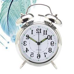 1 pcs Alarm Clock Round Little Alarm Clock Silent Clock Alar