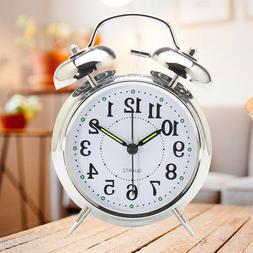 1 pcs Alarm Clock Round Round Clock Silent Clock Alarm Clock