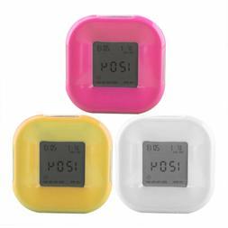 1 Pcs Mini Fashionable LED Alarm Lamp Kids Night Lamp Alarm