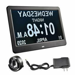 """10"""" Digital LCD Day Clock Time Date Calendar Dementia Displa"""