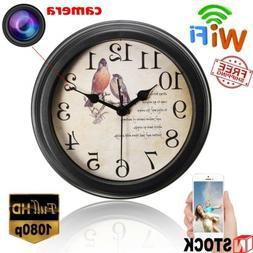 1080P WIFI HD Mini Hidden Spy IP Camera Alarm Clock Wireless