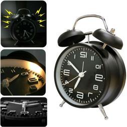 Vintage Twin Bell Alarm Clock Extra Loud Battery Analog Retr