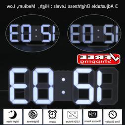 12/24Hr Dimmable LED Digital 3D Display Snooze Timer Alarm C