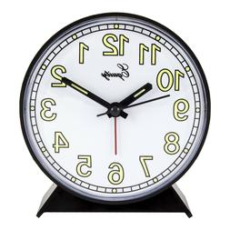 14077 battery powered analog quartz alarm clock