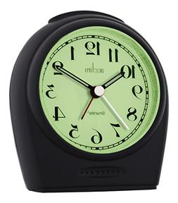 Acctim 14983 Broadway Smartlite Sweeper Alarm Clock, Black