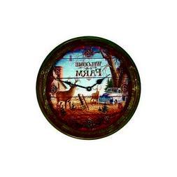 River's Edge 15 Welcome Deer Rusty Metal Clock 1034