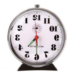 AcuRite 15607 Vintage Alarm Clock, Black Nickel