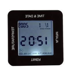 1PC Alarm Clock Thermometer LCD Alarm Clock Four Side Clock