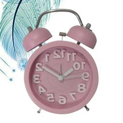 1pc Bell Small Clock Creative Cute Round Bell Small Alarm Cl