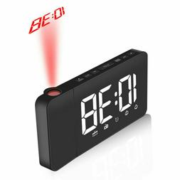 1PC Clock Projection FM Radio LED Display Easy to Use Night