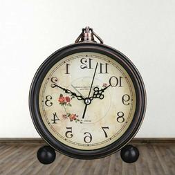 1pc Vintage Style Decorative Non-Ticking Retro Alarm Clock T