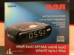 RCA 2 Alarm Clock Radio RP4842A BRAND NEW