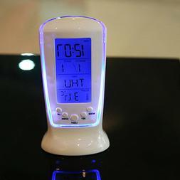 2 Pcs Timing Alarm Clock Electronic LED Night Light Alarm Cl