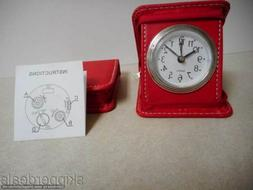 2 RED ALARM CLOCK SQUARE COMPACT ZIPPER CASE GREAT FOR TRAVE