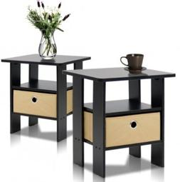 2 End Tables Sofa Bedroom Night Stand Coffee Books Alarm Clo
