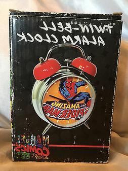 2010 Marvel Comics Spider-man Twin Bell Alarm Clock Kids Bed