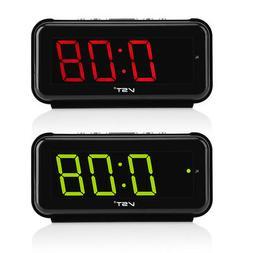 220V Electronic Table Digital Alarm Clock Desktop LED Displa
