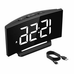 "Mpow 3.75"" Screen LCD Digital LED Adjustable Snooze Alarm Cl"