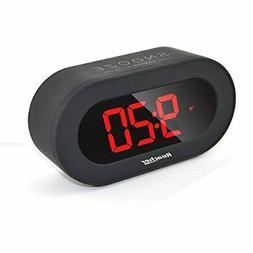 "3"" Digital LED Alarm Clock with USB Port Phone Charger, Snoo"