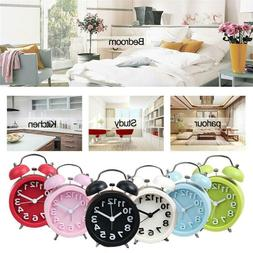 3 Inch Candy Color Quartz Alarm Clock With Night Light Home