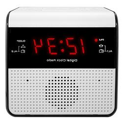 Equity by La Crosse 30118 FM Alarm Clock Radio with USB Char