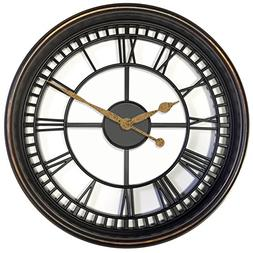 "Westclox 33908 Antique Style 20"" Wall Clock Brown See Throug"