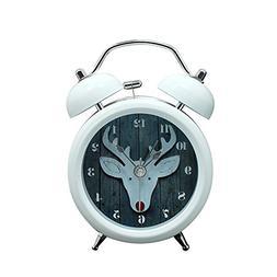 """Baidercor 3D Deer Twin Bell Alarm Clock with Nightlight 3"""""""