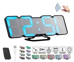 ZzPro 3D wireless remote control digital wall alarm clock, 1