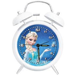 "4"" Girl Best Gift Cartoon Alarm Clock Metal Silent Sweep Ana"