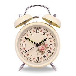 4 inch Vintage Retro Old Fashioned Quiet Non-ticking Sweep S