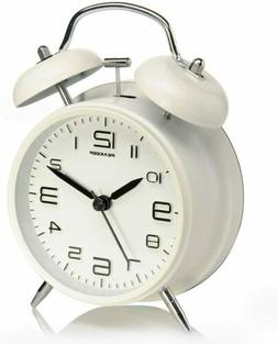 Peakeep 4 inches Twin Bell Alarm Clock with Backlight, Batte