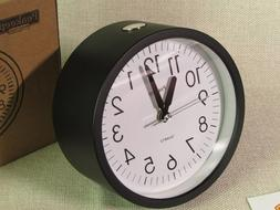 Peakeep 4'' Round  Alarm Clock with Snooze and Light Functio