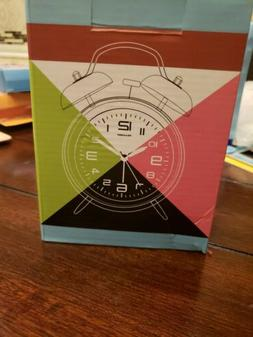 "Peakeep 4"" Twin Bell Alarm Clock -Battery Operated Loud Alar"