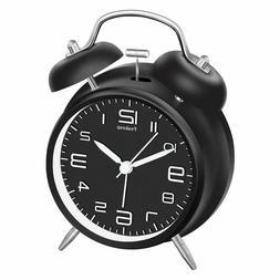 "Peakeep 4"" Twin Bell Alarm Clock, Battery Operated Loud Alar"