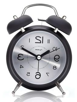 "4"" Twin Bell Alarm Clock for Heavy Sleepers,with Backlight,"