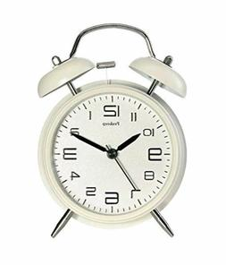 "Peakeep 4"" Twin Bell Alarm Clock with Stereoscopic Dial, Bac"