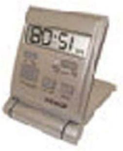 Westclox 47508S Travelmate Travel Folding Alarm Clock Silver