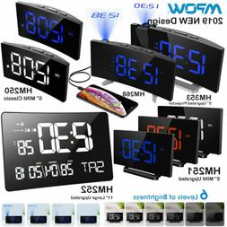"Mpow 5""/11"" LED Projection Alarm Clock FM Radio 12/24 Hour S"