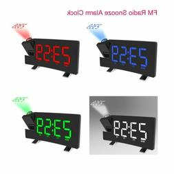 "5"" FM Radio Snooze Alarm Clock LCD Digital LED Projector Pro"