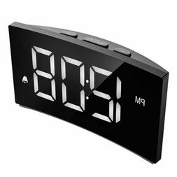 5 inch Digital LED Dimmable Screen Bedroom USB Alarm Clock R