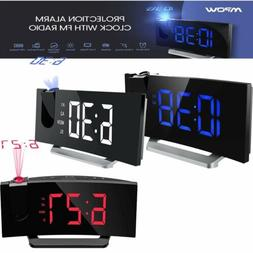 "Mpow 5"" LED Display Digital Projection Alarm Clock Weak Up F"