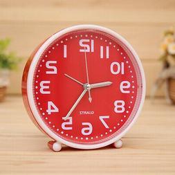 "5"" Portable Small Clock Table Desk Alarm Clock for Heavy Sle"