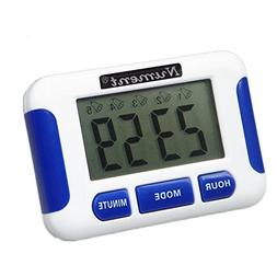 Nument 5 times Alarm style Timer with Clock for study Work e