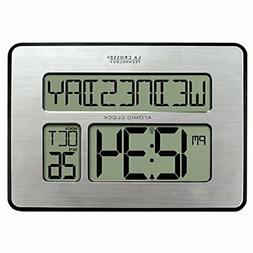 La Crosse Technology 513-1419BL Atomic Digital Wall Clock wi