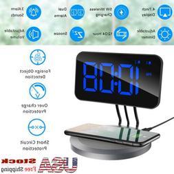 Mpow 5W Wireless Charging Alarm Clock  USB Port Dual Alarm B