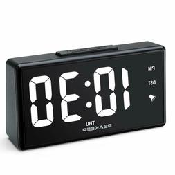 "PEAKEEP 6.8"" Large Night Light Digital Alarm Clock with US"