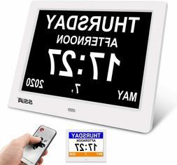 "7.5"" Digital Dementia Alarm Clock Alzheimer's  Impaired Cl"