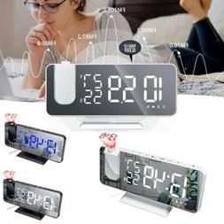 "7.5"" LED Digital Projector Projection Snooze Dual Alarm Cloc"